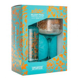 Silent Pool Gin mit Glas in Geschenkverpackung