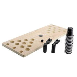 Trinkspiel Shot Pong Brett mit Plastikshotbechern und Katapult