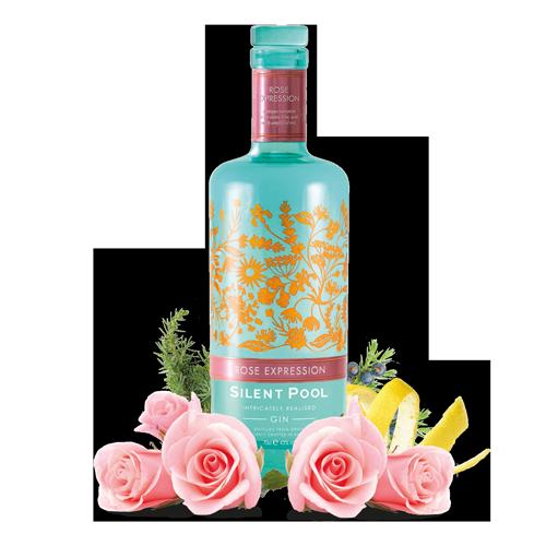 silent-pool-rose-gin-botanicals-angerichtet
