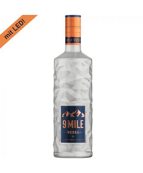 1,75L Flasche 9 MILE Vodka mit LED