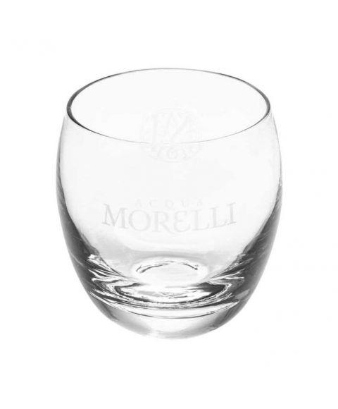 Acqua Morelli Glas mit Monogramm und Logo in transparent