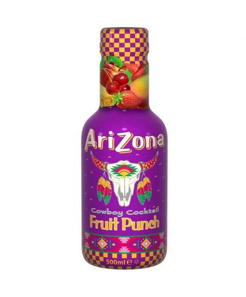 AriZona Cowboy Cocktail Fruit Punch Eistee in einer 0,5l PET Flasche.