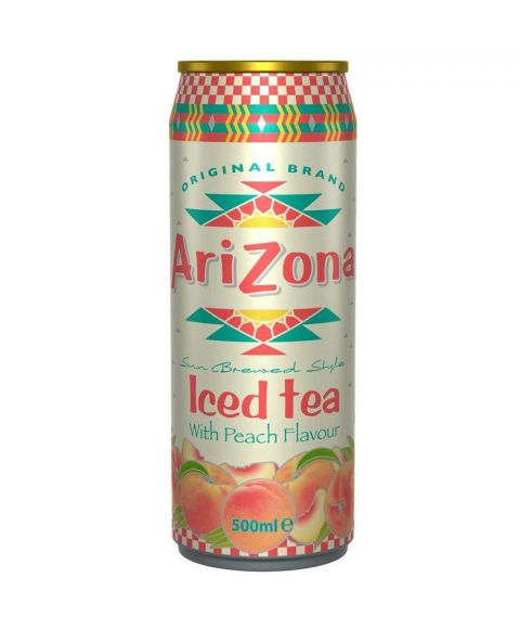AriZona Iced Tea Peach in einer 0,5l Dose.