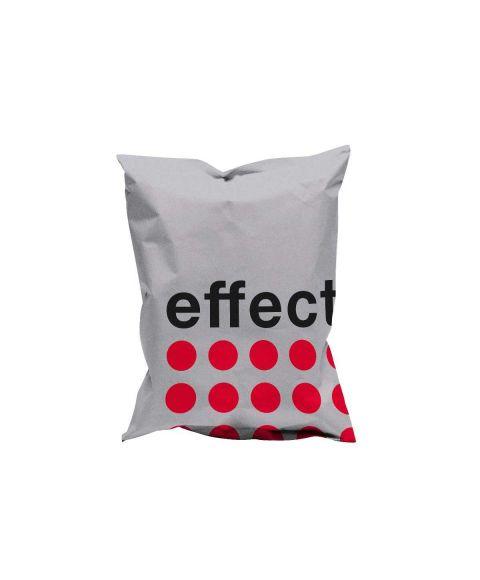 effect® Sitzsack Classic in silber und rot.