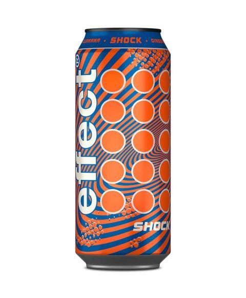 effect® shock besonderer Geschmack in besonderer 0,33l +50% Inhalt Dose. Spiraleffekt in Orange und Blau sorgen für Abwechslung.