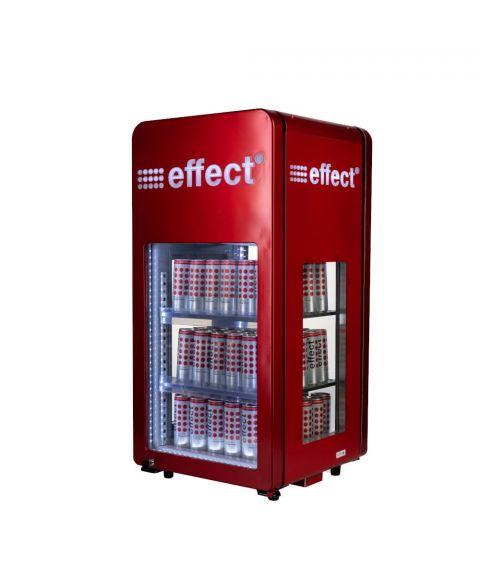 effect energy 360 Grad Kühlschrank rot Hauptfoto. Beidseitig zu öffnen