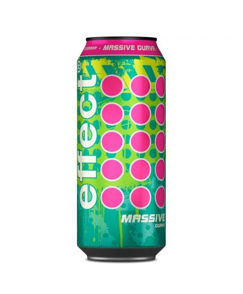 neue Sorte effect massive in 0,33l + 50% gratis, grüne Dose mit pinken Highlights
