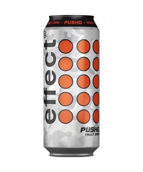 effect® PUSHD Truly Zero 500ml Energy Drink mit Camouflage Muster in silber und grau. Und der Inhalt komplett ohne Zucker.