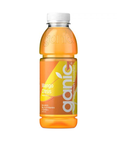 Ganic  vitamin water Golden Rush in 0,5l PET Flasche.
