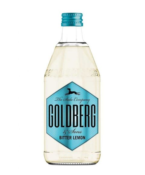 Goldberg Bitter Lemon in 0,5l Glasflasche.