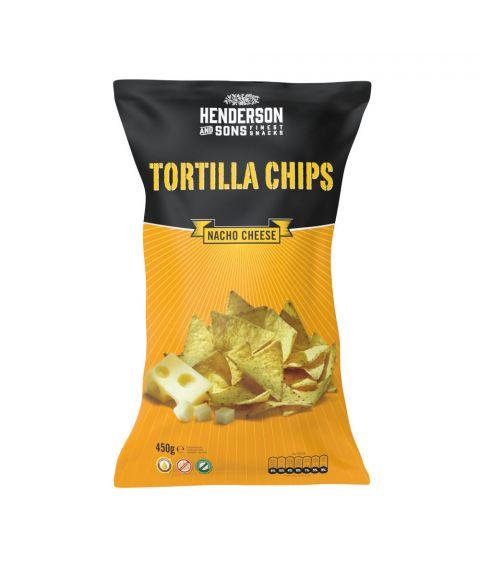Henderson & Sons Tortilla Chips Käse Geschmack 450g große Tüte