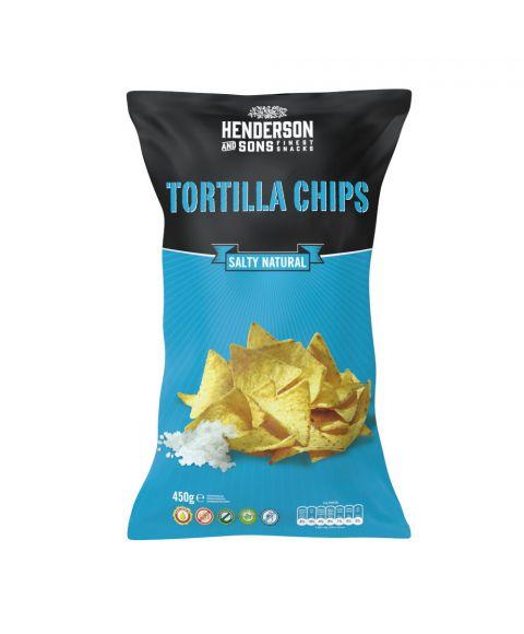 Henderson & Sons Tortilla Chips Salzig 450g große tüte
