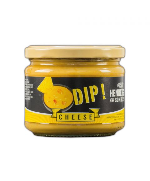 Henderson & Sons Cheese Dip im 300g Glas.