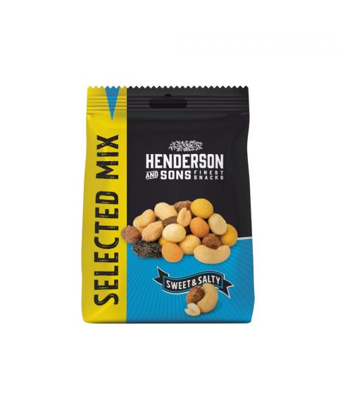 Henderson & Sons Sweet and Salty Selected Mix in der 125g Verpackung. Vorderseite