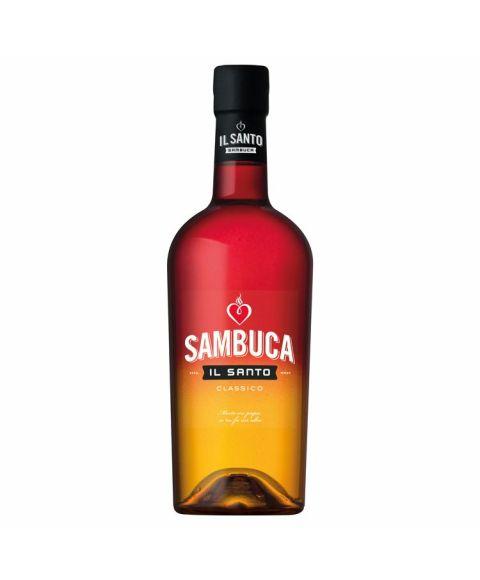 IL SANTO italienischer Sambuca Classico in edler Flasche mit Farbverlauf