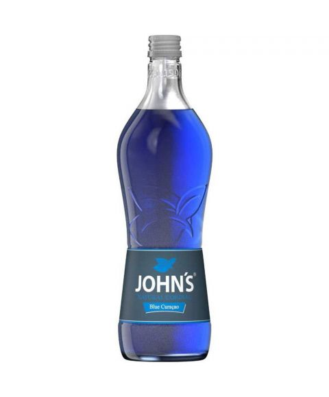 Johns Blue Curacao Cocktailsirup in 0,7l Glasflasche