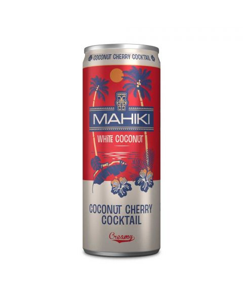 MAHIKI Coconut Cherry vorgemischter Cocktail in rot silberner Dose 250ml