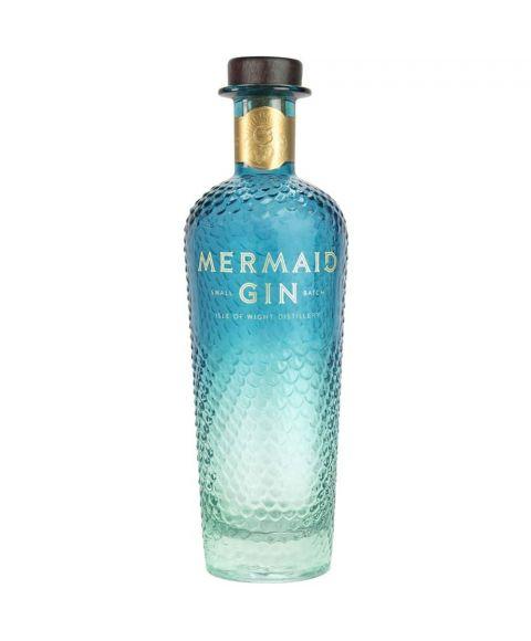 Mermaid Gin destilliert von der Isle of Wright Flasche Schuppen