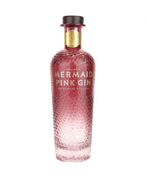 Mermaid Pink Gin mit Erdbeer Geschmack in auffälliger 700ml Flasche.
