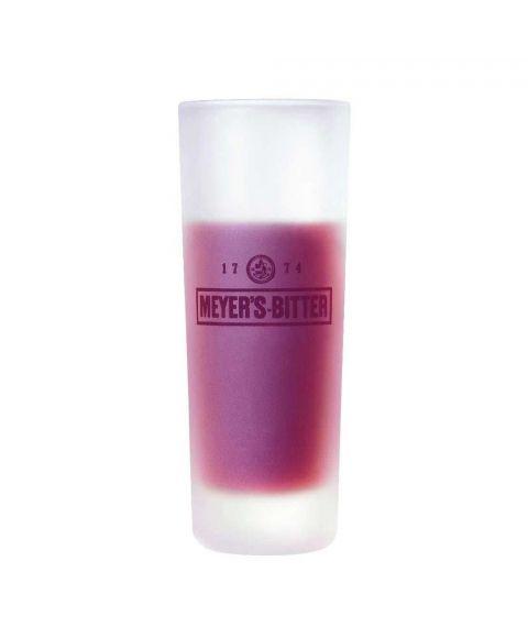 MEYER'S Bitter Shotglas in Milchglas Optik mit Branding