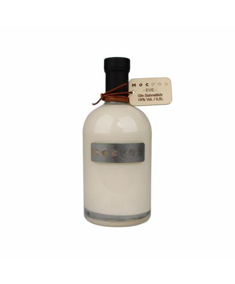 Mocfor Gin Sahnelikör Eve in 500ml Flasche mit ednlen Akzenten aus Holz, Leder und Stahl