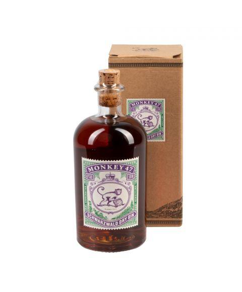 Monkey47 Schwarzwald Dry Gin in der formschönen 500ml Barrell Cut Sonderedition inkl. Verpackung.