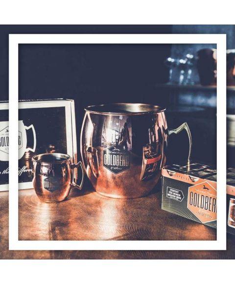 Goldberg Copper Mug Aktionspaket mit 6 Kupferbechern 1 XXL Kupferbecher und Intense Ginger Dosen