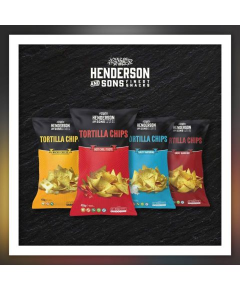 HENDERSON & SONS Tortilla Kombi Cheese Chili Salty Barbeque