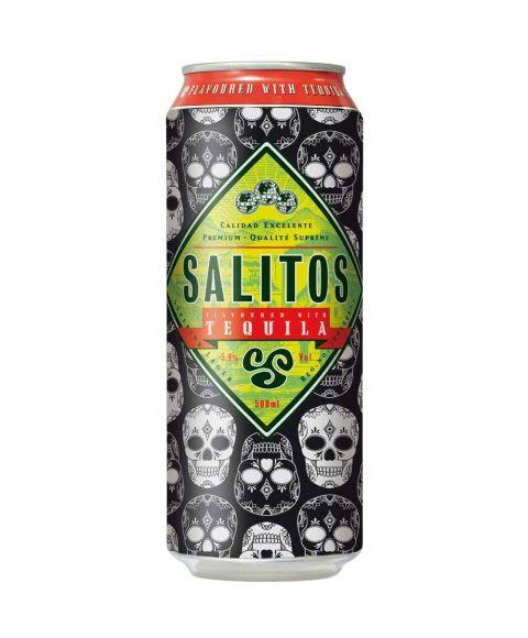Salitos Bier Tequila 500ml Dose im Totenkopf Design