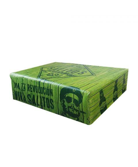 SALITOS Palettenhusse Revolucion inkl. Sitzkissen aus Schaumstoff 120 cm x 80 cm Bezug für Paletten als Outdoor Sitzfläche seitliche Ansicht
