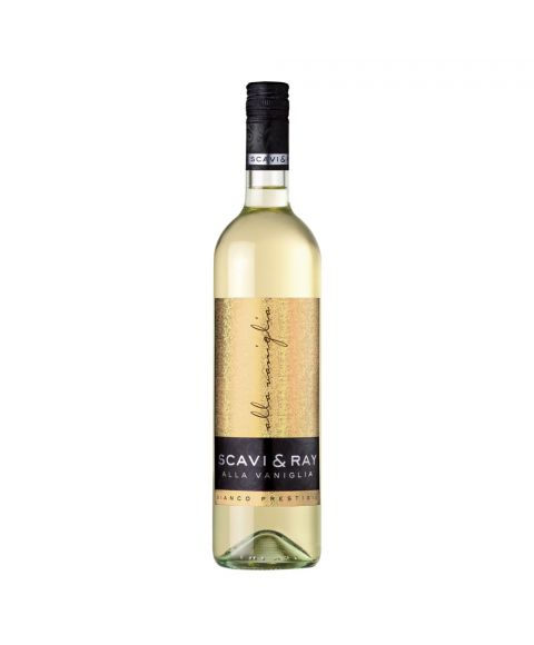 Scavi & Ray Alla Vaniglia Weißwein mit Vanille Geschmack und glitzerndem Etikett in 750ml Flasche