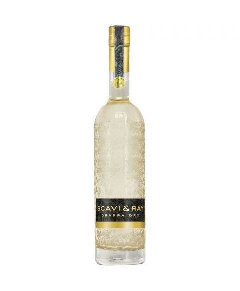SCAVI & RAY Grappa Oro (Gold) in schöner 0,7l Flasche