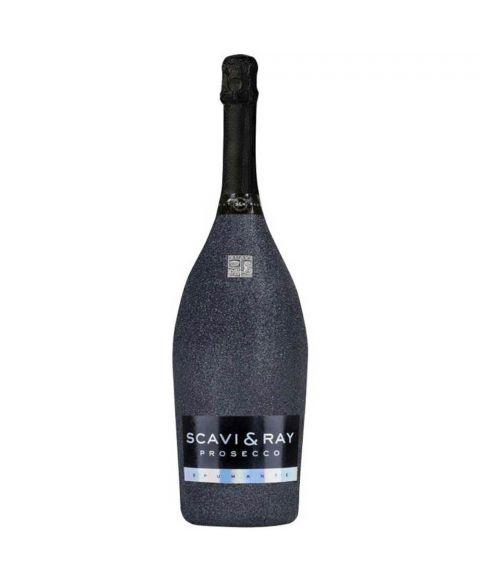 SCAVI & RAY Glitzerflasche Magnum 1,5L Prosecco Schwarz