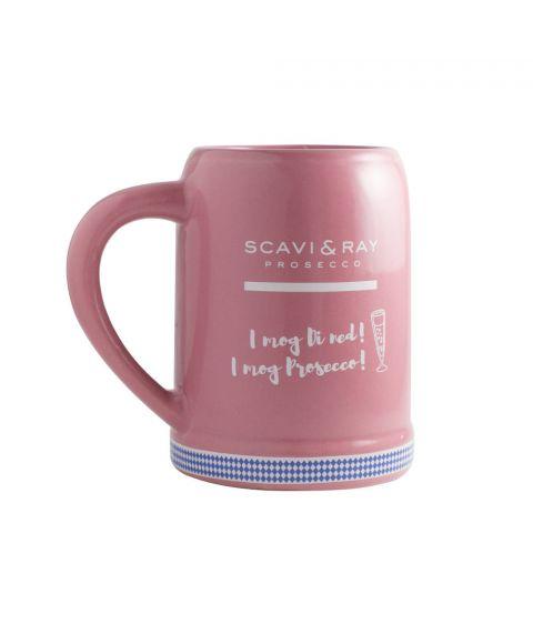 SCAVI & RAY Oktoberfest Prosecco Krug pink mit Logo