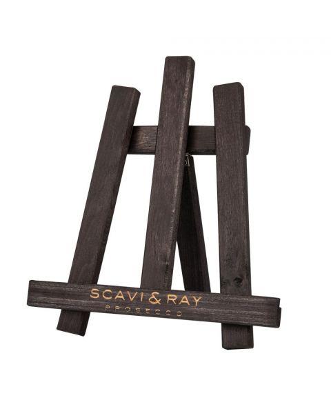 Scavi & Ray Tisch Staffelei für Menükarten - Material edles Holz - seitlich aufgestellt