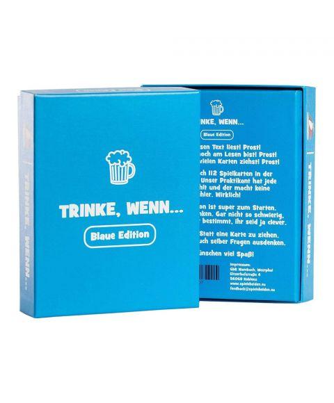 Karten Trinkspiel Trinken Wenn blaue Edition Vorder und Rückseite