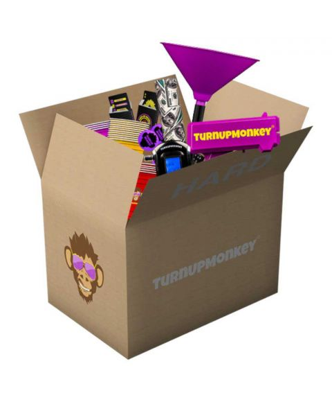 Turn Up Monkey große Partybox mit Trinkspielen und Zubehör