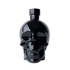 schwarze Flasche Crystal Head Agave Vodka Onyx in Totenkopfschädel 700ml Frontansicht