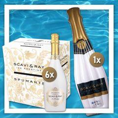 SCAVI & RAY Ice Prestige Pool Time Bundle mit 1x Luftmatratze & 6x Ice Prestige 0,75 l in einem Paket.