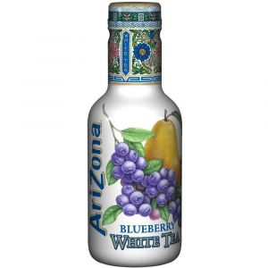 AriZona White Tea Blueberry in einer 0,5l PET Flasche.
