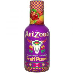 AriZona Cowboy Cocktail Fruit Punch Eistee in einer 0,5l PET Flasche.