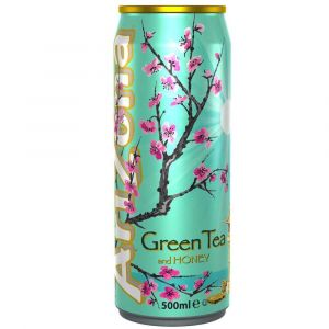 AriZona Green Tea Honey Eistee in einer 0,5l Dose.