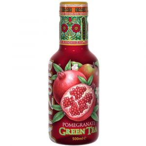 AriZona Green Tea Pomegranate in einer 0,5l PET Flasche.