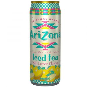 AriZona Iced Tea Lemon in einer 0,5l Dose.