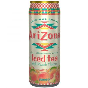 AriZona Iced Tea Peach in einer 0,5l Dose.