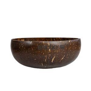 Brekky Bowl echte Kokosnuss-Schale zum Zubereiten von Smoothie-Bowls mit graviertem Brekky Emblem