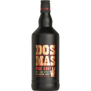 DOS MAS FiRE SHOT in schwarzer 3L Flasche mit gold-rotem Schriftzug sticht ins Auge und es ist genug drin!