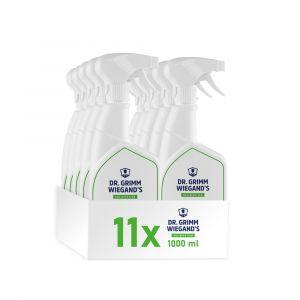 11 praktische Sprühflaschen Dr. Grimm Wiegands Flächen-Desinfektion 1 Liter