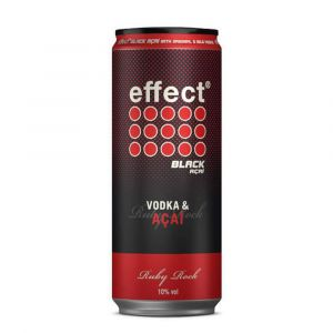 effect Black Acai Energy Drink mit 9 Mile Vodka in 330ml Dose Ruby Rock vorgemischt.
