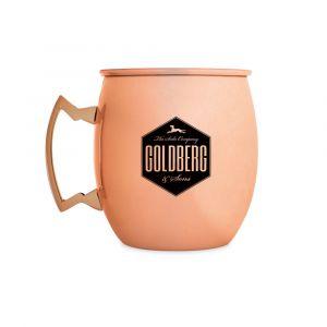 Goldberg Kupferbecher mit Logo Druck